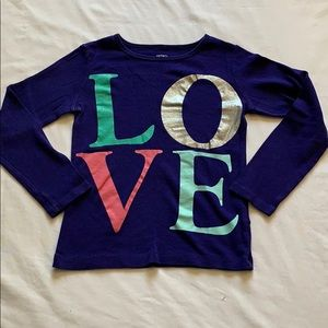 Carter's LOVE long sleeved tee